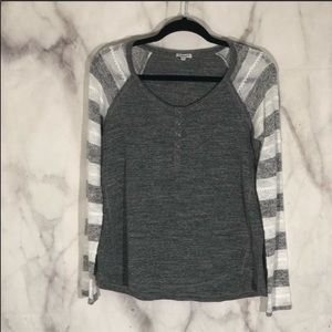 Splendid grey raglan with sweater sleeves sz.M